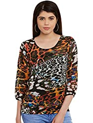 Multicolor Animal Print Poly Georgette Top