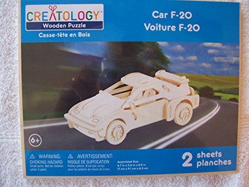 Creatology Wooden Puzzle Car F-20 - 1