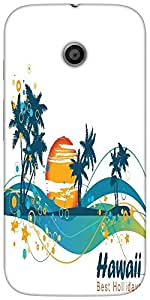Snoogg Summer Illustrationsolid Snap On - Back Cover All Around Protection Fo...