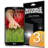 LG G2 Screen Protector - Invisible Defender LG G2 [MAX HD CLARITY] Lifetime Warranty Perfect Touch Precision High Definition (HD) Clarity Film (3-Pack) for LG G2