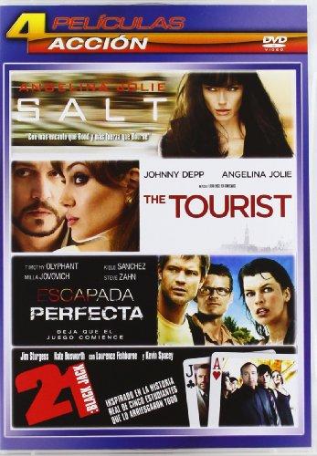 Pack Acción 2: Salt, The Tourist, Escapada Perfecta, 21 Black Jack [DVD]