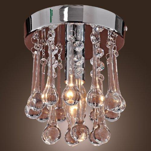Lightinthebox® 40W Modern Crystal Semi Flunsh Mount, Mini Style, Modern Ceiling Light Fixture For Hallway, Dining Room, Bedroom, Living Room