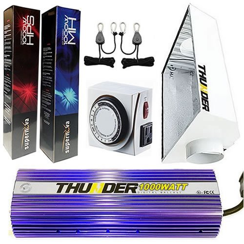 thunder tm starter kit 1000 watt light digital dimmable. Black Bedroom Furniture Sets. Home Design Ideas