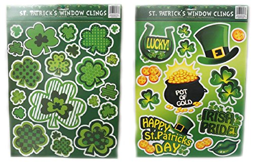 St Patrick Day Window Clings - 2 Pack - 1