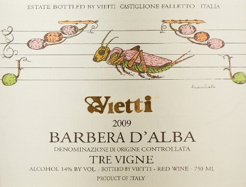 2009 Vietti Barbera D'Alba Tre Vigne Piedmont Barbera 750 Ml