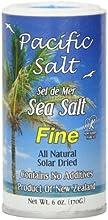 Pacific Salt Fine New Zealand Sea Salt 6-Ounce Pack of 6