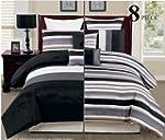 8PC Reversible Luxury Comforter Bed i...