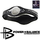 Power Balance Silikon Armband - schwarz S - Pro Ion Uni Sport Silikonarmband - IWSA09 GWSA09