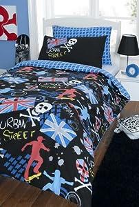 Skater Urban Street Graffiti Style Kids Bed Set - Reverisble from Laika Designs