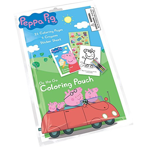 Peppa Pig Coloring Pouch Favor (Each)
