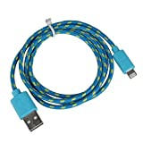 Tier21 - 2Metre braided 8 Pin Charger and Sync Lead,Cable for Apple iPhone 5, 5C, iPad Mini,iPad 4G,iPod Touch 5G,Nano 7G (2 Metre, Blue)