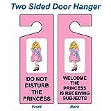 ComplianceSigns Plastic Do Not Disturb Door Hanger, 8x3 with English, Pink