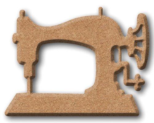 Paper Moon - Aus italienischen Holzschild für Scrapbooking, Wohnkultur - Nähmaschine