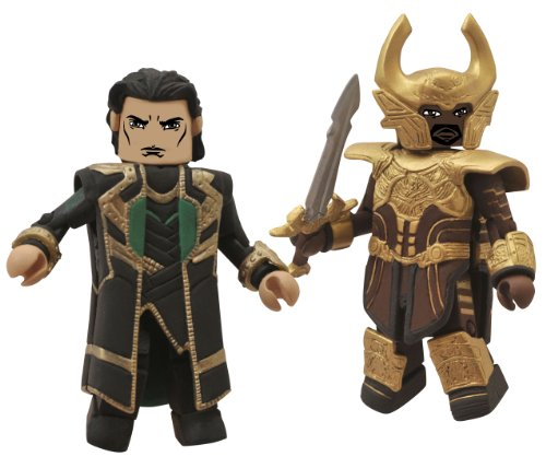 Diamond Select Toys Marvel Minimates: Thor 2: Series 53 Loki and Heimdall Action Figure, 2-Pack - 1