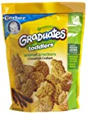 Gerber Animal Crackers, For Toddlers, Cinnamon Graham, 6 oz (Pack of 4)