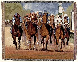 Thundering Hooves Horse Mid-Size Deluxe Tapestry Throw Blanket