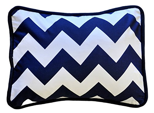 New Arrivals Accent Pillow, Zig Zag in Navy