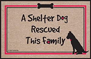 High Cotton Shelter Dog Doormat