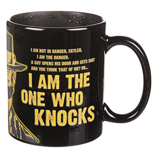 Breaking Bad I Am The One Who Knocks Heat Changing Mug by TruffleShuffle
