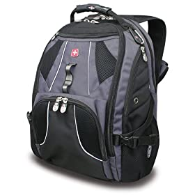 SwissGear Wired Laptop Backpack for 17-Inch Notebook (Black)
