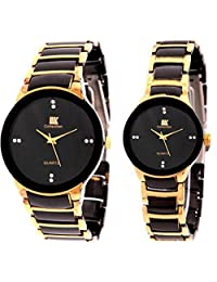 TARSA IIK Pair Of Black Dial Men's Watch & Black Dial Women's Watch
