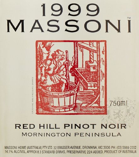 1999 Massoni Red Hill Pinot Noir 750 Ml