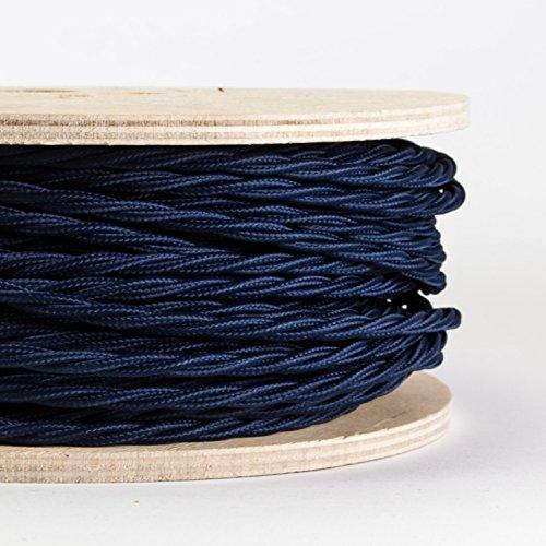 cable-gaine-textile-tresse-bleu-lunatique-fabrique-en-italie