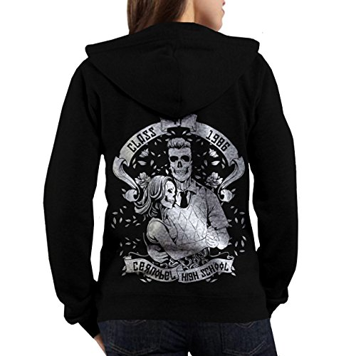 Wellcoda | Ghosts of Chernobyl Women NEW Zombie Skeleton Hoodie S-XL