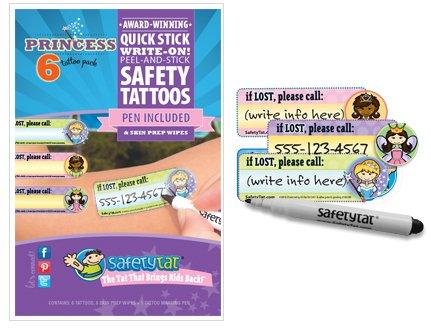 SafetyTat-Child-ID-Safety-Tattoo-Princess-6-Pack