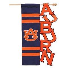 Buy NCAA Auburn Tigers Navy Blue-Orange Cut-Out Applique Garden Flag by Football Fanatics