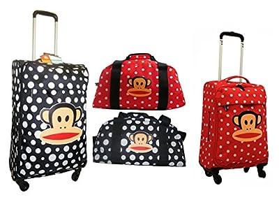 """Paul Frank Super-Lightweight Trolley Suitcase (26"""" 2.2kg) Holdall (0.65kg) Cabin Size 4 Wheels Spiner (20"""" 1.85kg) Luggage"""