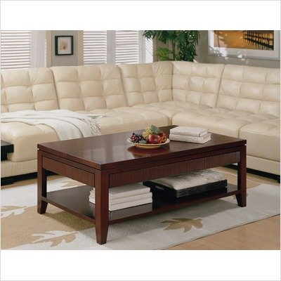 Grove Laptop Coffee Table with Lift and Slide Top