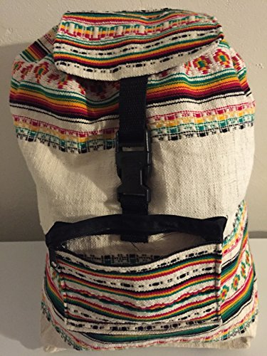 Rasta Bag. Beach Bag, Backpack-Rasta White and Red