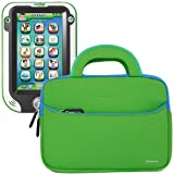 Evecase® Ultra-Portable Universal Neoprene Carrying Sleeve for Tablets such as LeapFrog LeapPad Ultra Learning Tablet - 7-inch Educational Kids Tablet / Kid-tough Toys - Green