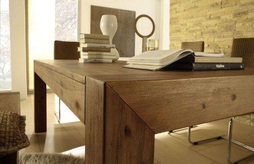 Esstisch designer tisch massiv ausziehbar 160 220 90 cm for Tisch massiv ausziehbar