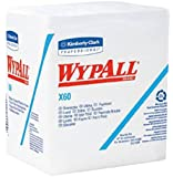 Kimberly-Clark KCC 34865 Wypall X60 1/4 Fold Jumbo Roll Wiper- White- 76 Count - Case of 12