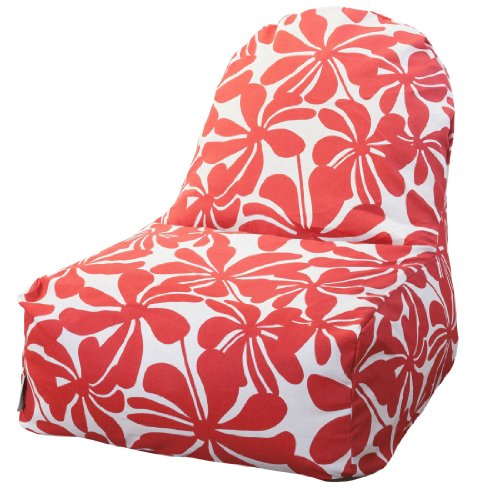 Majestic Home Goods Kick-It Chair, Plantation, Red front-313075