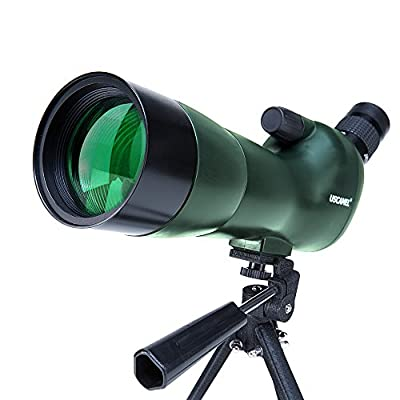 USCAMEL Spotting Scope 20-60X60 Waterproof Birdwatching Monocular Telescope HD with Canon Adapter + Tripod for Archery, Safari Sightseeing, Stargazing, Camping from USCAMEL