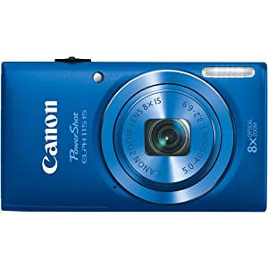 Canon PowerShot 8605B001 16MP Digital Camera with 2.7-Inch LCD (Blue)- ELPH 115