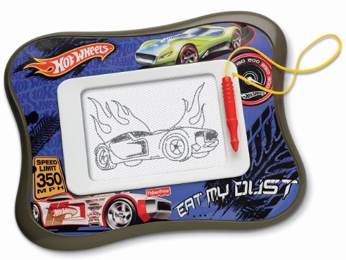 Mess-Free Magnetic Drawing Screen - Fisher-Price Kid-Tough Doodler Hot Wheels Doodle Pad