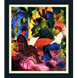Couple At The Garden Table By Macke - ArtsNyou Printed Paintings - B00QA1EAFE
