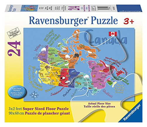 Ravensburger Canada Map Floor Puzzle (24 Piece)