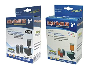 Cartridge refill kit for HP 364/564/364XL/564XL BLACK(Pigment) & Cyan,Magenta,Yellow COLOR ink cartridges