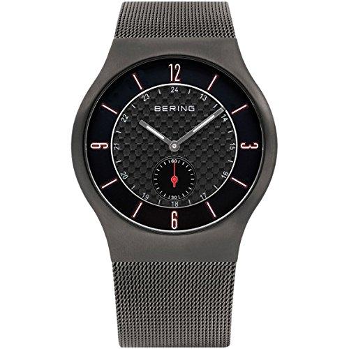 Bering Time  0 - Reloj de cuarzo para hombre, con correa de acero inoxidable, color gris