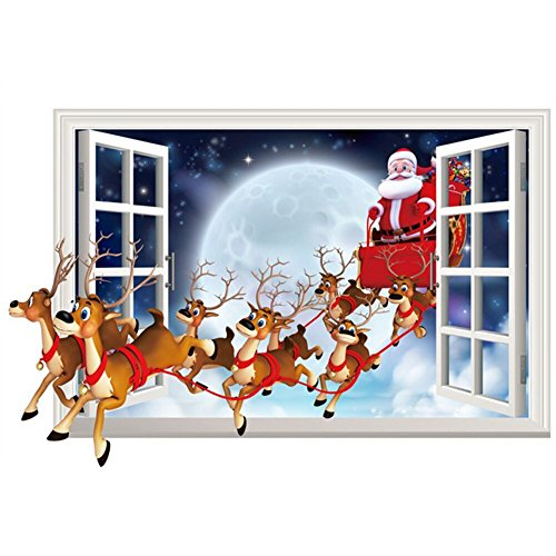tang-imp-3d-christmas-santa-claus-wallpaper-window-glass-decal-removable-mural-decor-wall-sticker