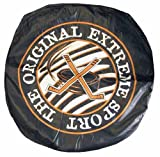 """Giant Vinly Beanless Hockey Puck Shaped Bag Chairs. 32"""" in Diameter."""