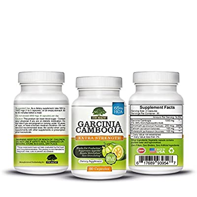 Stay Healthy Garcinia Cambogia Extract Dietary Supplements, 60 Capsules