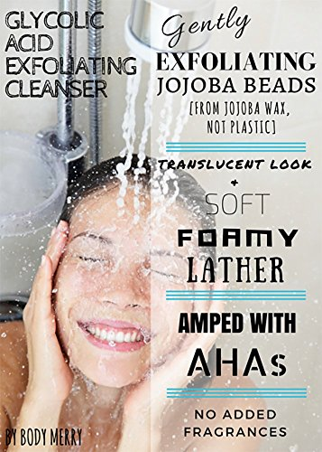 Glycolic-Acid-Exfoliating-Cleanser-Anti-Aging-Acne-Face-Wash-w-AHA-For-Wrinkles-Lines-Spots-Reduction-Natural-Blend-of-Best-Rosehip-Tea-Tree-Oils-Jojoba-Beads-For-a-Deep-Clean