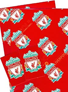 Liverpool F.C. 2 Sheets Wrapping Paper plus 2 Gift Tags