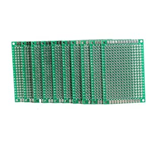 Vktech 10pcs 4x6cm Double Side Prototype PCB Universal Printed Circuit Board